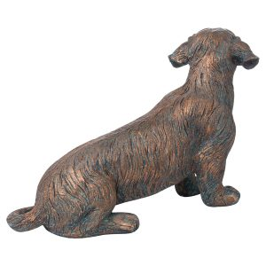 21294-b Copper Wire Haired Dachshund Ornament
