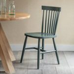 CHFG02 Pair Dark Green Spindle Back Chairs