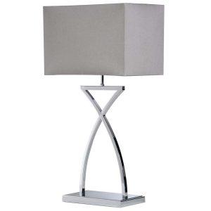 ELK115 Cross Stem Lamp with Grey Shade