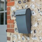 PBCO01 Charcoal Grey Steel Wall Post Box