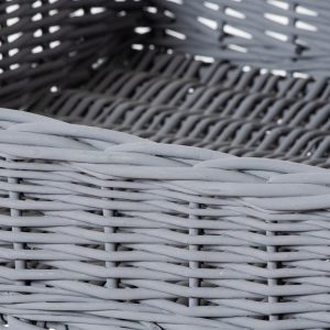 21430-a Grey Basket Butlers Tray Table