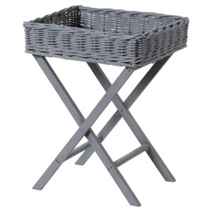 21431 Large Grey Basket Butlers Tray