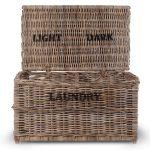 Dark Lights Rattan Laundry Chest