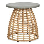 Bamboo Style Round Side Table