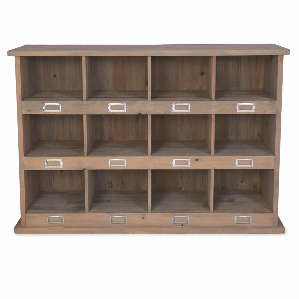 Brown Wooden Medium Shoe Locker - Interior Flair