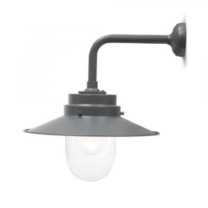 Grey Outdoor Wall Down Light
