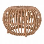Intricate Rattan Side Table Stool