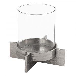 21523 Contemporary Silver Candle Holder Lantern