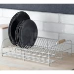 DRST01 a Vintage White Metal Dish Rack